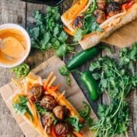 Spicy Meatball Banh Mi