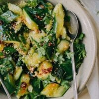 Smashed Asian Cucumber Salad, by thewoksoflife.com