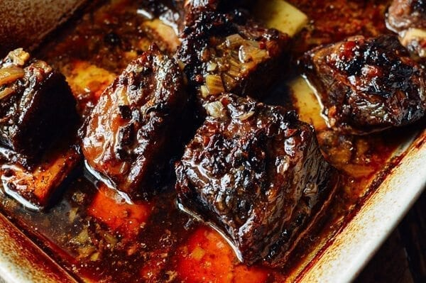 Asian Braised Short Ribs with Chili Lime Potatoes, by thewoksoflife.com