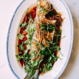 Steamed whole fish Cantonese style