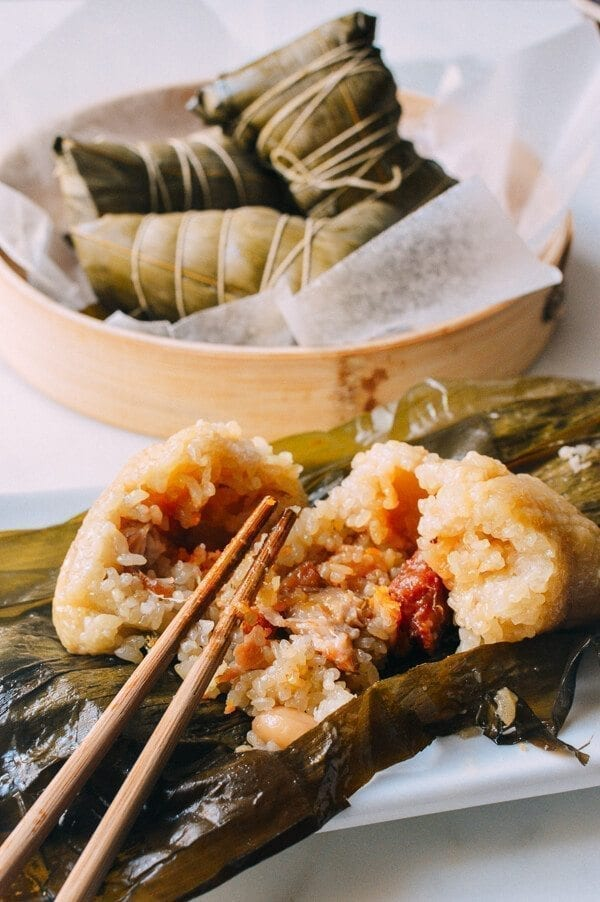 Zongzi (Cantonese Style Rice Dumplings), by thewoksoflife.com