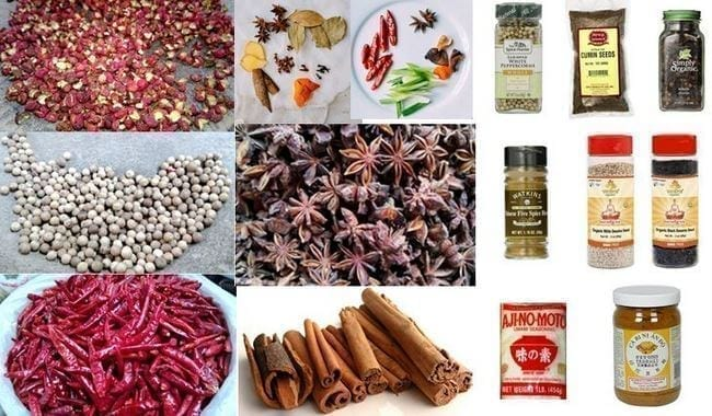 Dry Chinese Spices and Condiments, by thewoksoflife.com
