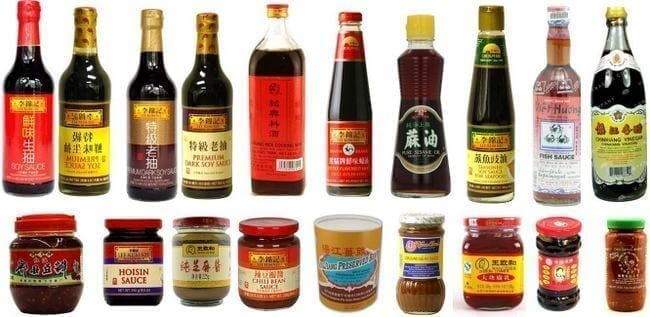 Chinese sauces index