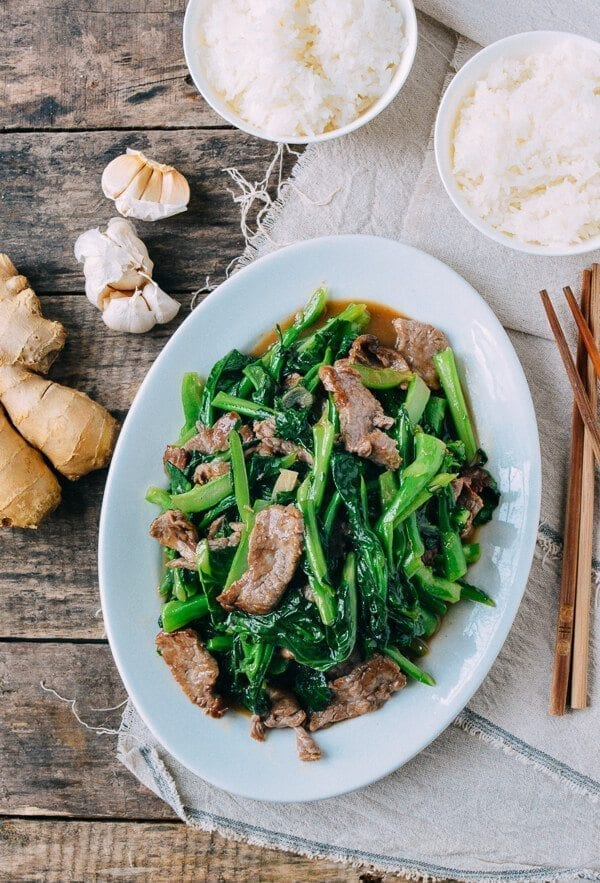 Beef with Chinese Broccoli, by thewoksoflife.com