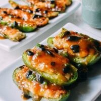 Chinese Stuffed Peppers, Classic Dim Sum Recipe