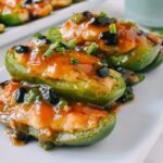 Dim sum Chinese stuffed peppers