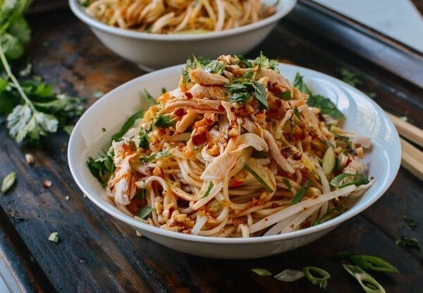 Cold Noodles with Shredded Chicken, by thewoksoflife.com