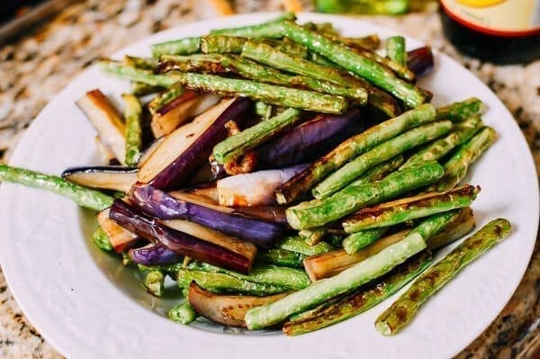 Eggplant String Bean Stir-fry, by thewoksoflife.com