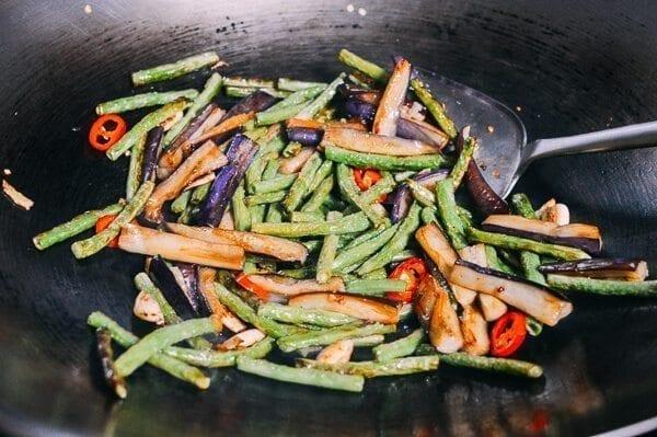 Eggplant String Bean Stir-fry, by thewoksoflife.com