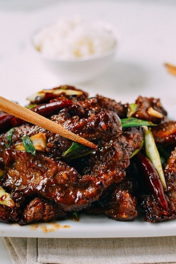 "Mongolian Beef Recipe, An ""Authentic"" version, by thewoksoflife.com"