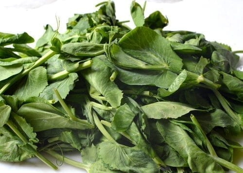 Chinese Vegetables: pea tips, by thewoksoflife.com