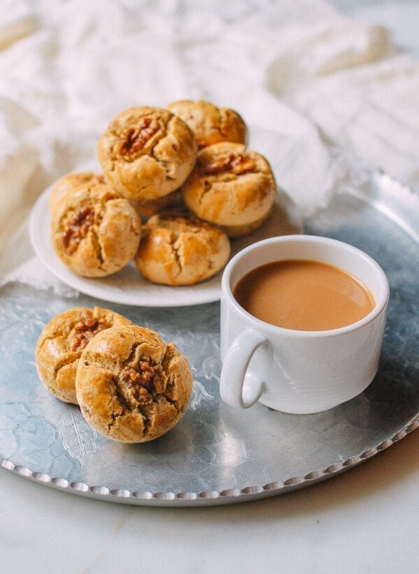 Chinese Walnut Cookies, by thewoksoflife.com