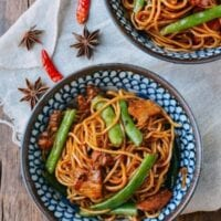 Bian Dou Men Mian (Steamed Noodles and Green Beans)