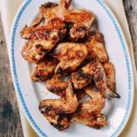 Three-Ingredient Grilled Chicken Wings, by thewoksoflife.com