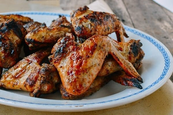 Three-Ingredient Grilled Chicken Wings, by thewoksoflife.com