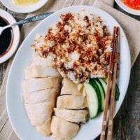Hainanese Chicken Rice, by thewoksoflife.com