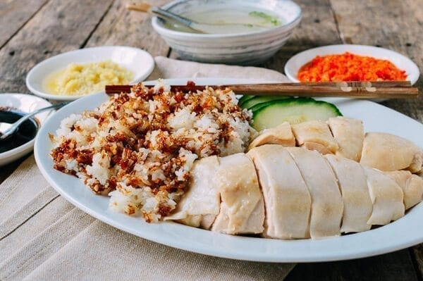 Hainanese Chicken Rice, by thewoksoflife.com