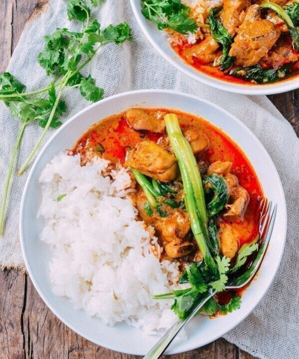 Red Curry Chicken, by thewoksoflife.com