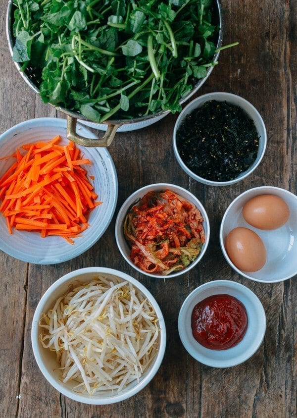 Salmon Bibimbap Korean Rice Bowl by thewoksoflife.com