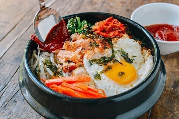 Salmon Bibimbap, by thewoksoflife.com