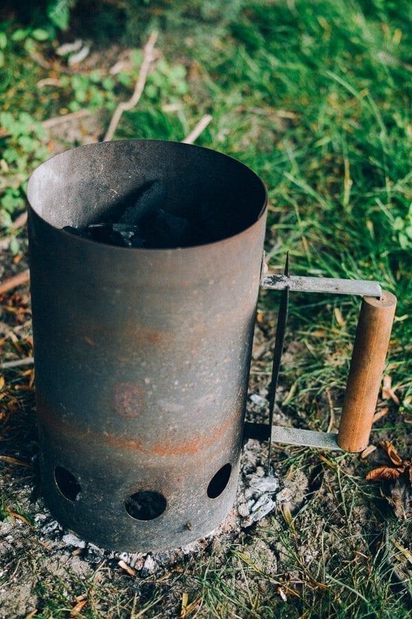 Natural hardwood lump charcoal