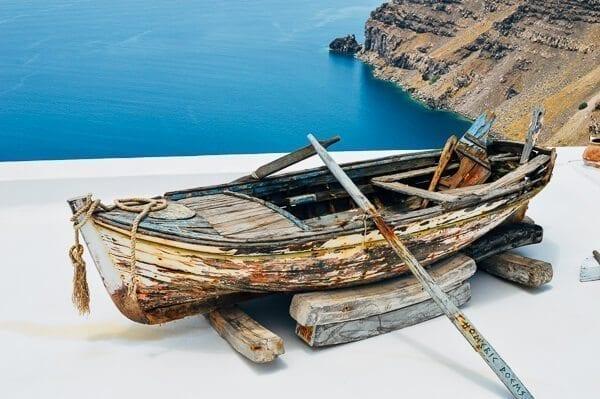 Oia Santorini Boat