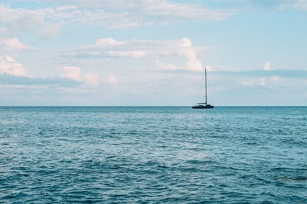 Sailboat on the horizon