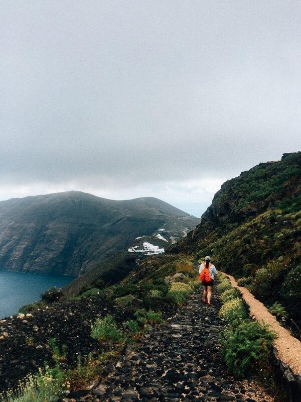 Santorini hike