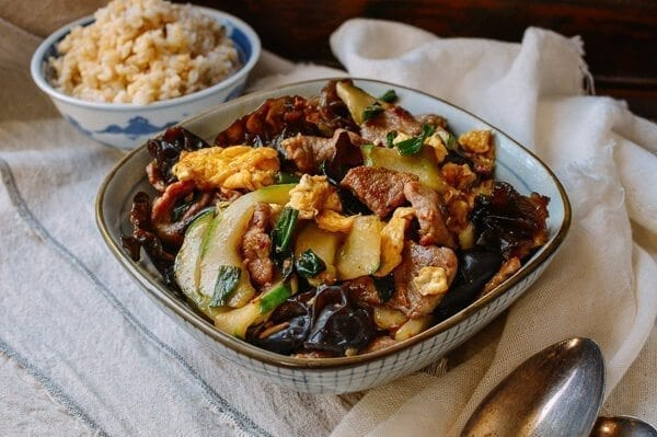 Moo Shu Pork - The authentic Chinese Recipe, by thewoksoflife.com