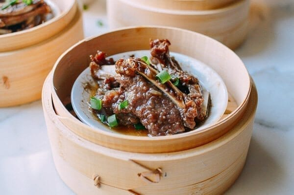 Dim Sum Steamed Beef Short Ribs with Black Pepper, by thewoksoflife.com