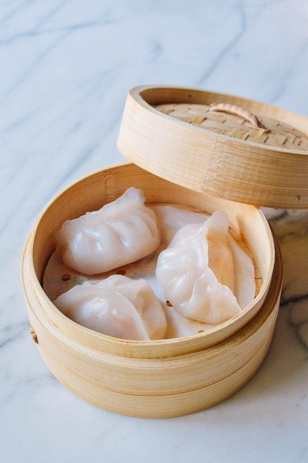 Har Gow dim sum shrimp dumplings, by thewoksoflife.com