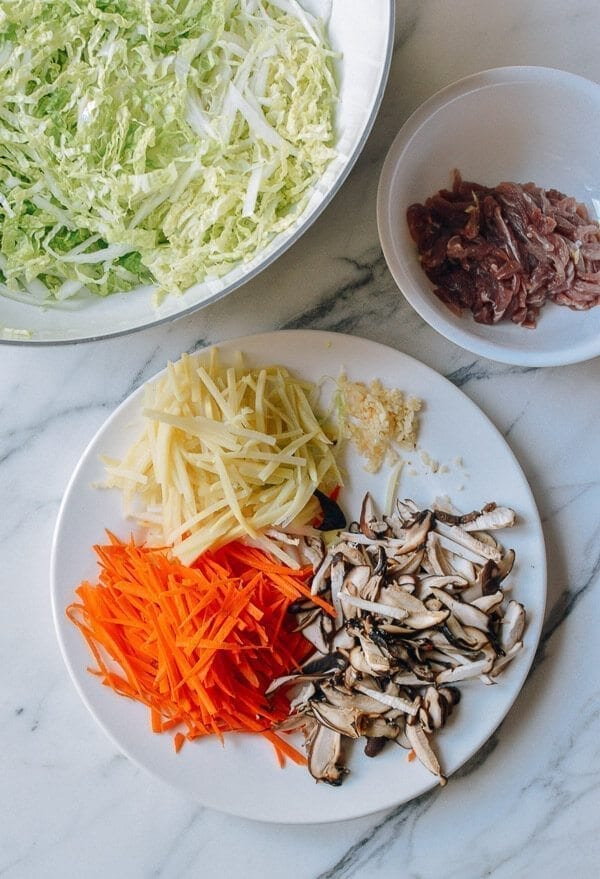 Cantonese Spring Roll Ingredients, by thewoksoflife.com