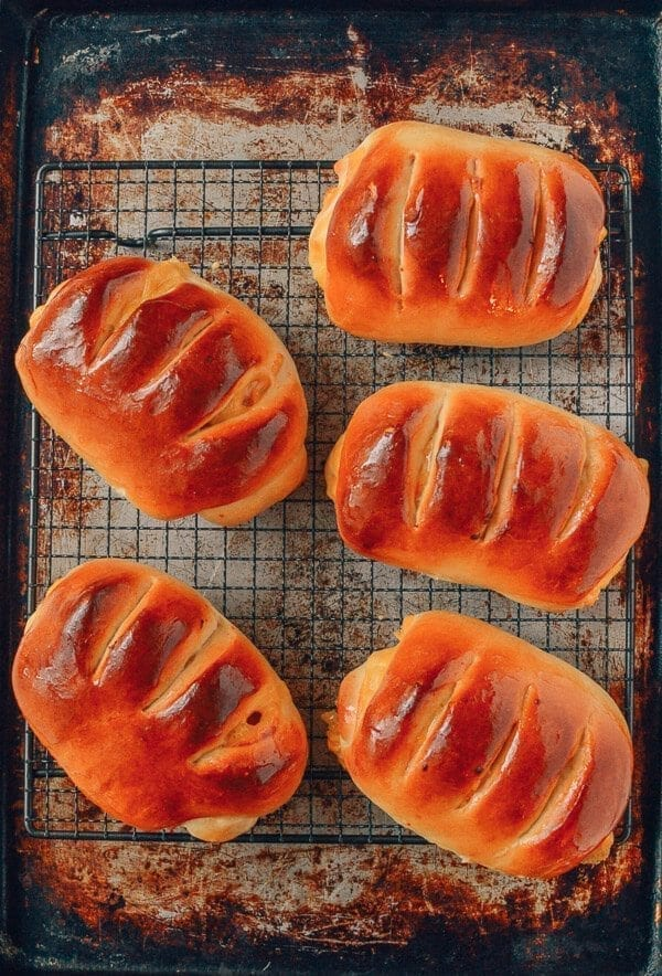 Ham and Cheese Buns, A Chinese Bakery Treat, by thewoksoflife.com