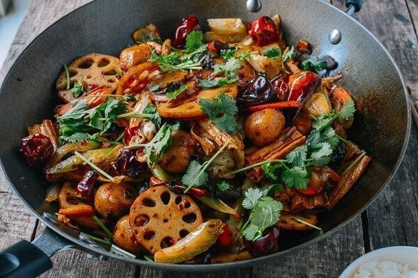 Ma La Xiang Guo (Spicy Numbing Stir-fry Pot), by thewoksoflife.com