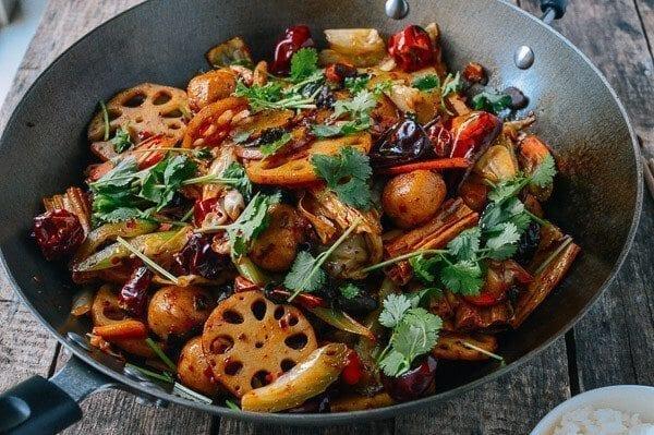 Ma La Xiang Guo (Spicy Numbing Stir-fry Pot), by thewoksoflife.com