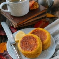 Pumpkin English Muffins, by thewoksoflife.com