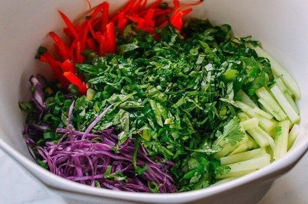 Rainbow Noodle Salad, by thewoksoflife.com