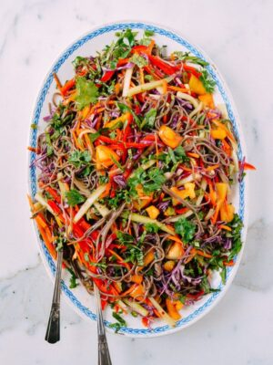 Rainbow Noodle Salad, by thewoksoflife.com