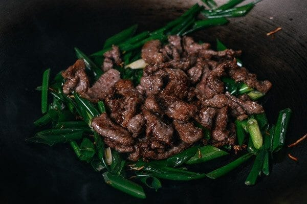 Scallion Beef Stir-fry, by thewoksoflife.com