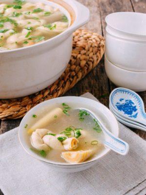 Yan Du Xian Shanghai Pork Soup w/ Bamboo & Tofu, by thewoksoflife.com