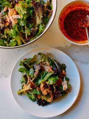 Spicy Chicken Salad, by thewoksoflife.com