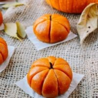 Pumpkin Mochi with Pumpkin Filling