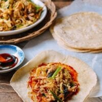 Moo Shu Chicken (with homemade pancakes!)