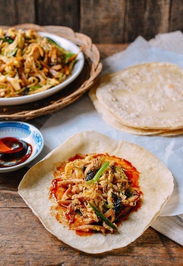 Moo Shu Chicken, by thewoksoflife.com