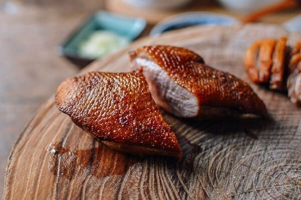 Easy Peking Duck with Homemade Mandarin Pancakes, by thewoksoflife.com