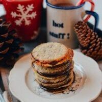 Chocolate Oatmeal Sandwich Cookies (Brussels Cookies Recipe), by thewoksoflife.com