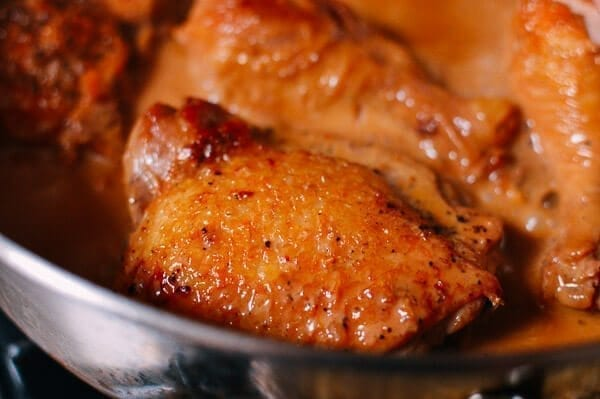 Chicken thigh close-up, by thewoksoflife.com