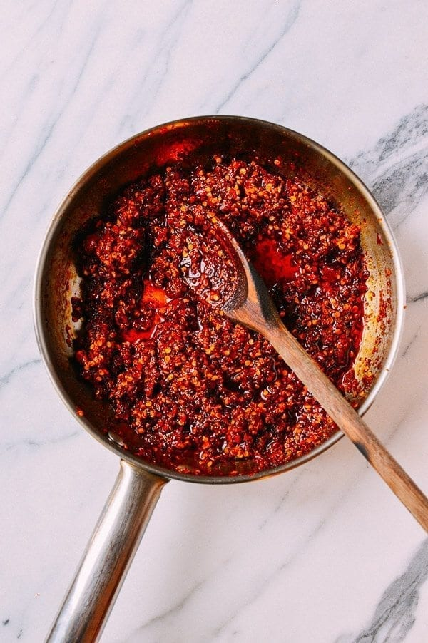 Chiu Chow Chili Sauce, by thewoksoflife.com