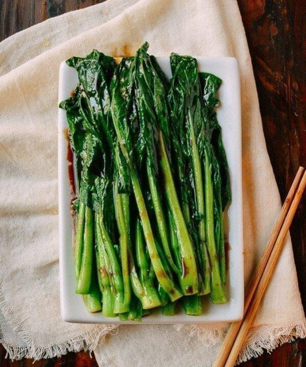 Easy Yu Choy Recipe, by thewoksoflife.com