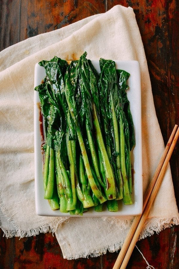 Chinese New Year Menu - the shortcut - Easy Yu Choy Recipe, by thewoksoflife.com